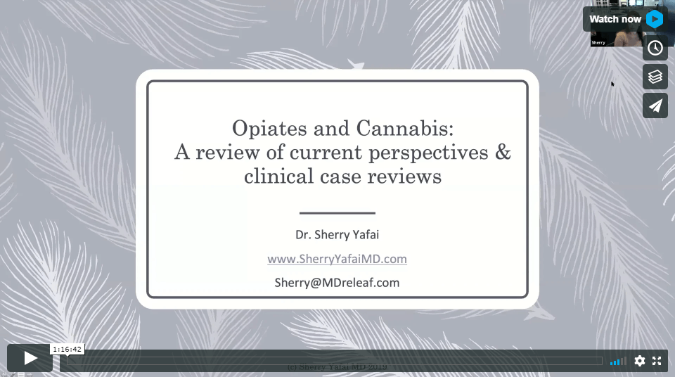 Opiates & Cannabis: Current Perspectives & Case Studies